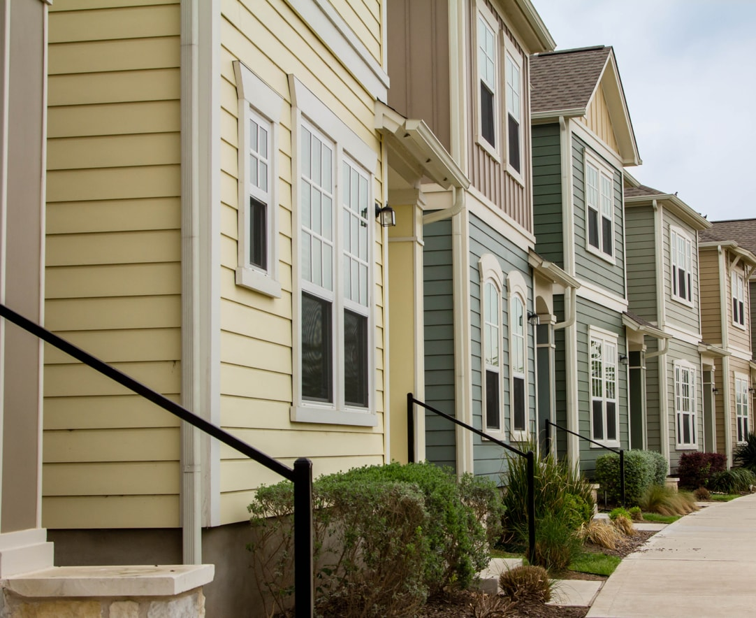 row of town homes in Colorado